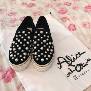 Alice and Olivia slip on shoes